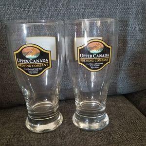 2 UPPER CANADA WISDOM BEER GLASSES NEW